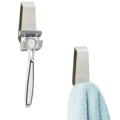 Fountain Bathware 2 Piece Facet Stainless Steel Hook Set
