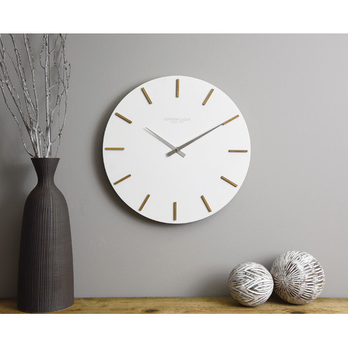 London Clock Company Hvit Wall Clock