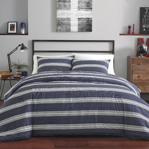 Nautica Blue & White Striped Craver Cotton Comforter Set