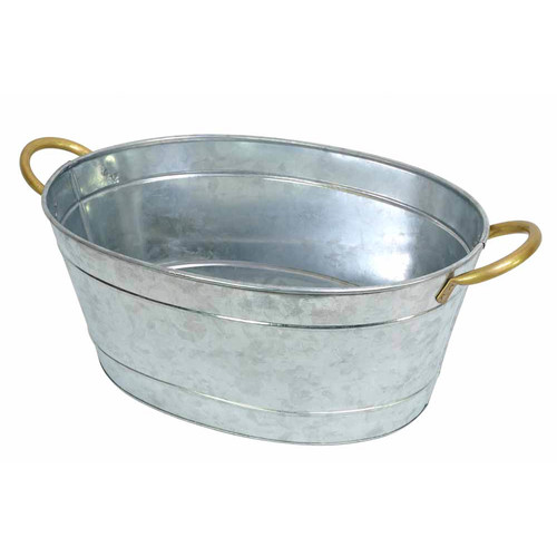 J. Elliot Galvanized Silver Tub