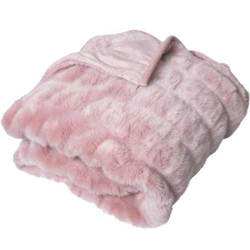 J. Elliot Quebec Ruched Faux Fur Throw