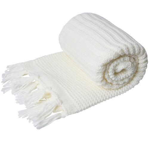 J. Elliot Yukon Tasselled Chunky Knit Throw