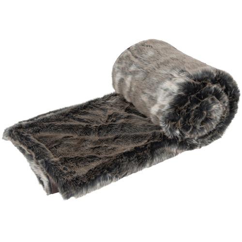 J. Elliot Golden Jackal Faux Fur Throw