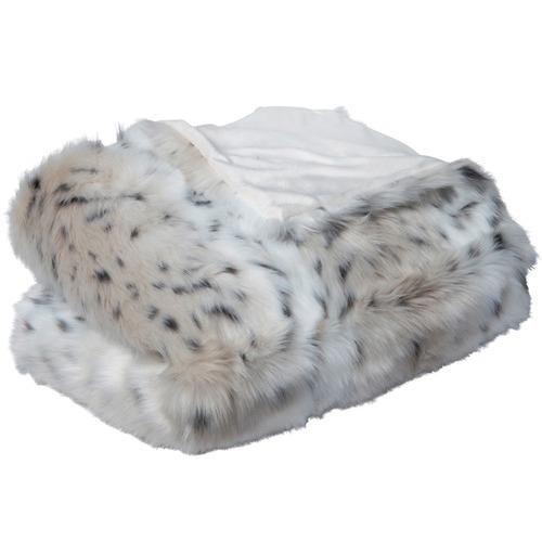 J. Elliot Snow Leopard  Faux Fur Throw