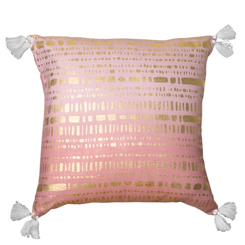 J. Elliot Pink & Gold Cypress Cotton Cushion
