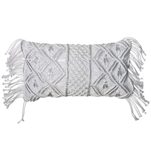 J. Elliot Ivory & Silver Bodhi Rectangular Cushion