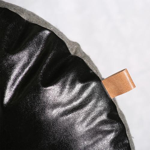 J. Elliot Black & Grey Parker Round Cushion