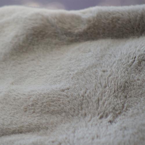 J. Elliot Silver Grey Arlo Super Plush Faux Fur Throw