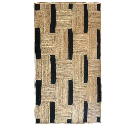 J. Elliot Natural & Black Maisy Jute-Blend Rug