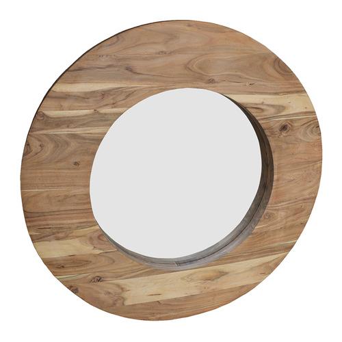 J. Elliot Natural Oakley Round Wood Mirror