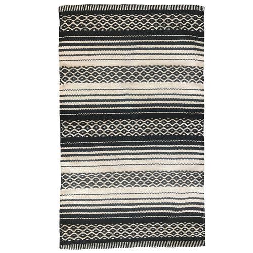 J. Elliot Natural & Black Harper Woven Cotton Rug