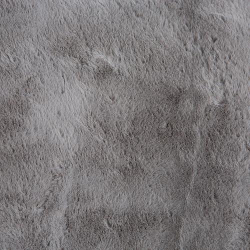 J. Elliot Silver & Grey Emilia Faux Rabbit Fur Round Rug