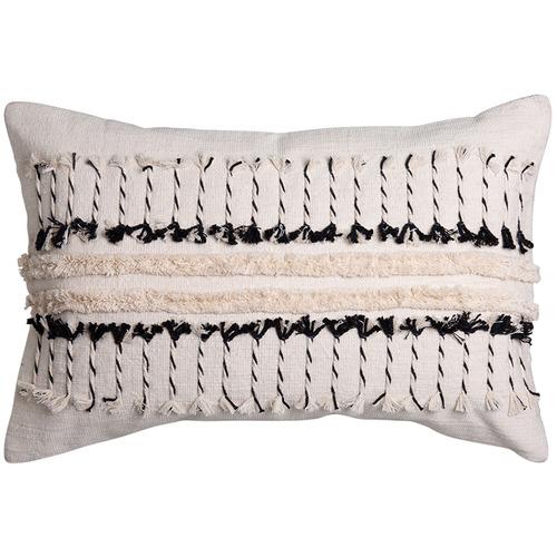 J. Elliot Black & Natural Vera Cotton Cushion