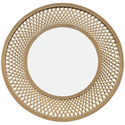 J. Elliot Duke Round Bamboo Mirror
