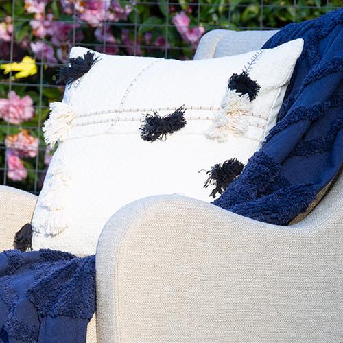 Black Josie Cotton Cushions