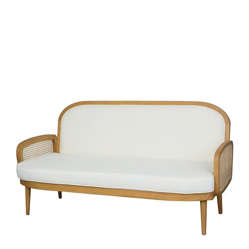 White & Natural Sherine Couch