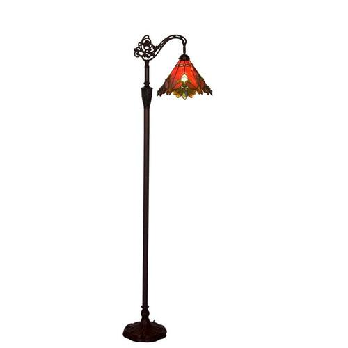 Tiffany Pieces Nature Metal & Glass Floor Lamp
