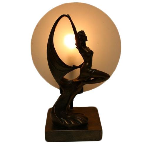 Tiffany Pieces Contemporary Dancing Lady Art Decor Lamp