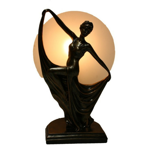 Tiffany Pieces Ancient Dancing Lady Art Decor Lamp