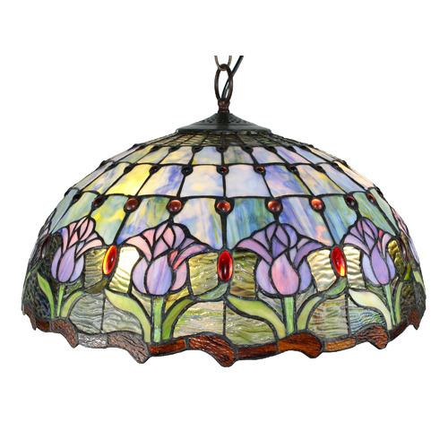 Tiffany Pieces 3 Light Pendant Lamp