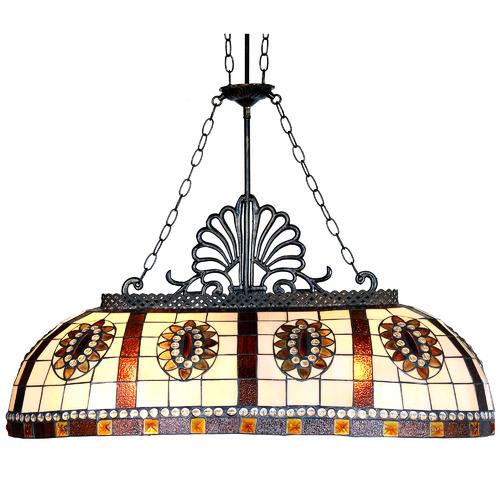 Tiffany Pieces Geometric Billiards Lamp