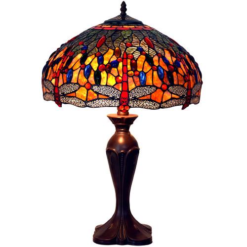 Tiffany Pieces Amartya Leadlight Dragonfly Tiffany Table Lamp