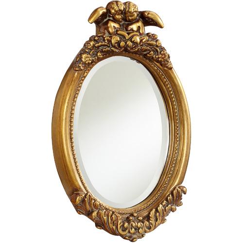 Tiffany Pieces Angel Oval Wall Mirror