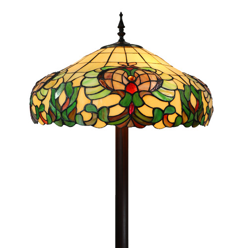 Tiffany Pieces Dimentional Floral Floor Lamp