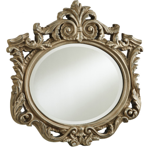 Tiffany Pieces Owl Resemblance Oval Wall Mirror