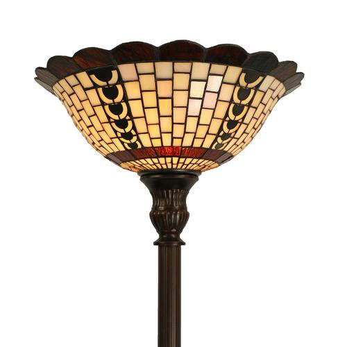Tiffany Pieces Geometric Uplight Floor Lamp