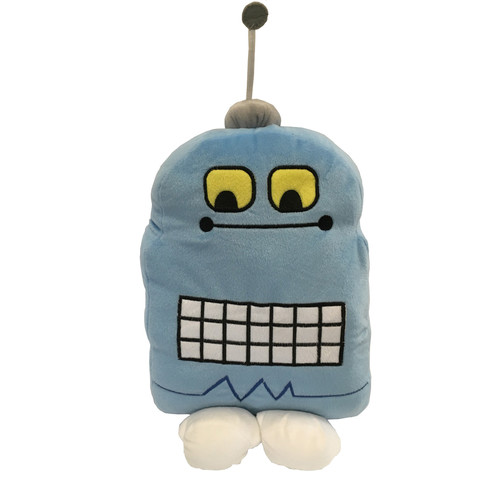 Happy Kids Blue Robot Cushion