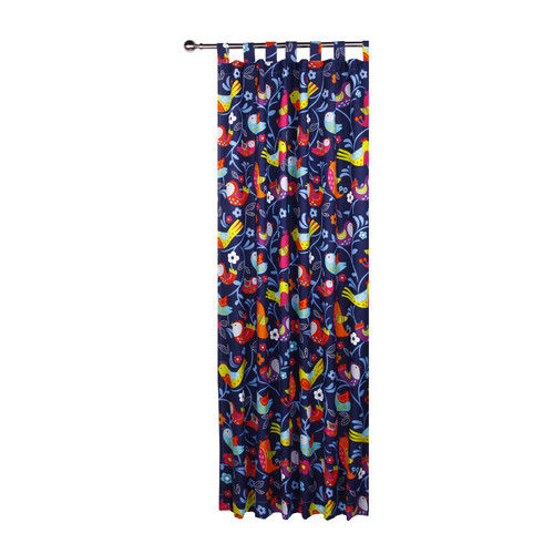 Happy Kids Bright Birds Tab Top Curtain Set