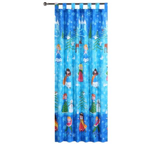Happy Kids Snow Princess Tab Top Curtain Set