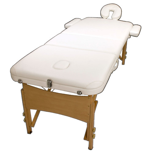 Forever Beauty Portable Fold Beauty Massage Table Chair Bed in White