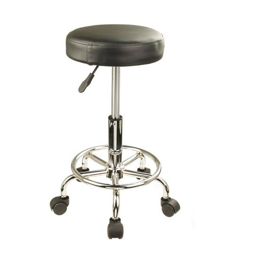 ROUND Salon Stool Swivel Chair Seat Hydraulic Lift | Temple & Webster