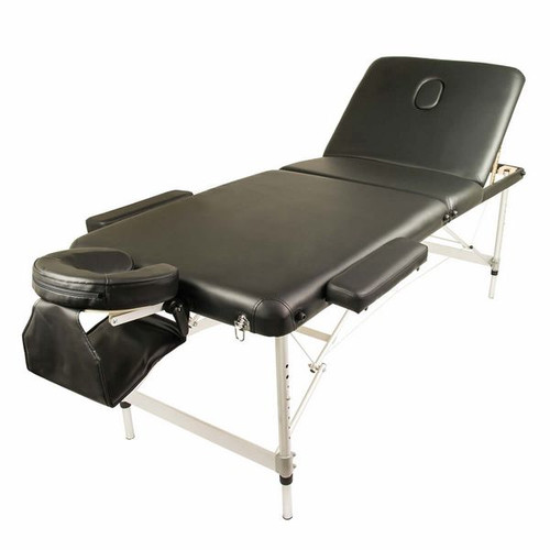 Forever Beauty Portable Aluminium Beauty Massage Table Chair Bed 3 Fold