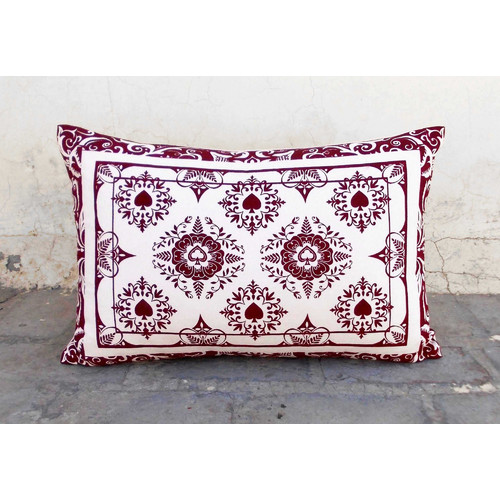 Ground Work Rugs Playing Card Print Cushion Cover