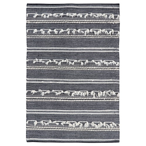 Ground Work Rugs Charcoal Noir Hand-Woven Wool Rug