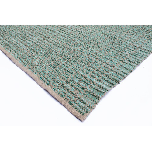 Ground Work Rugs Aqua Zola Handwoven Jute Rug