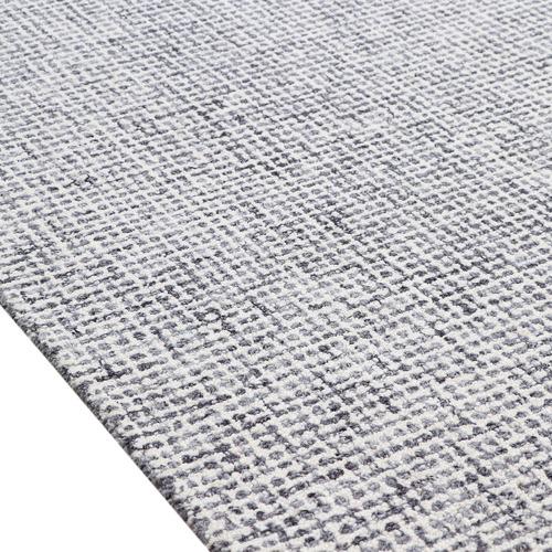 Light Grey Hand-Woven Wool Rug