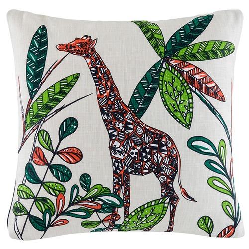 Kas Giselle Giraffe Cotton Cushion