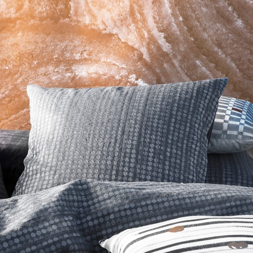 Kas Charcoal Anwar Spot Euro Pillowcase