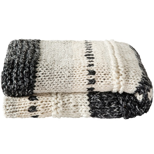Kas Charcoal Magnuson Knitted Throw