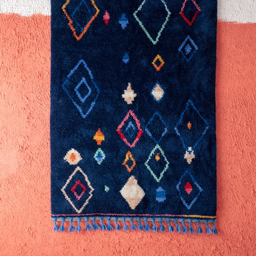 Kas Navy Alvar Cotton & Wool Rug