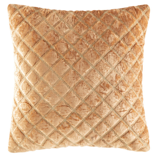 Kas Apricot Marisol Embroidered Velvet Cushion