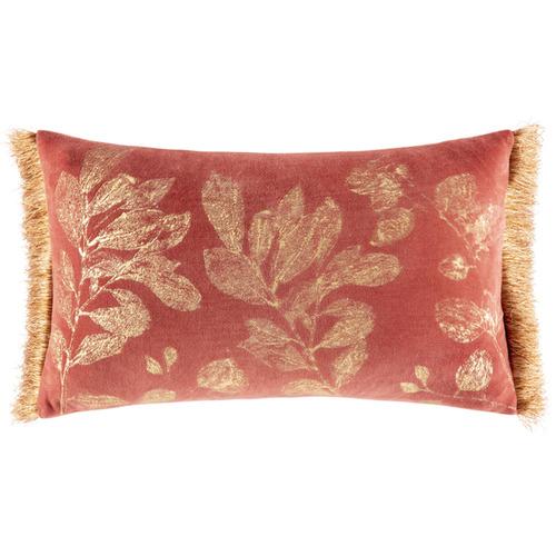 Kas Botanical Rosamund Rectangular Velvet Cushion