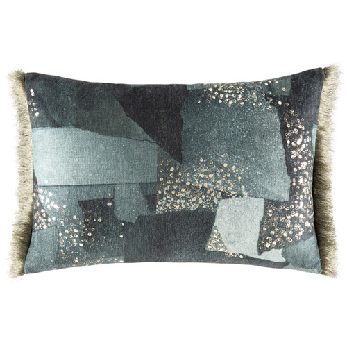 Navy Costella Rectangular Cushion