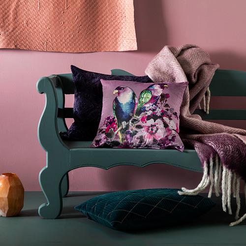 Kas Amaryllis Square Velvet Cushion