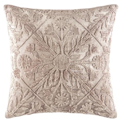 Kas Mink Tile Pattern Margo Velvet Cushion