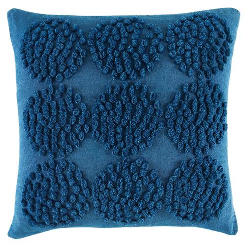 Kas Blue Stonewashed Punto Cushion